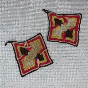 Vintage Crochet Hot Pads